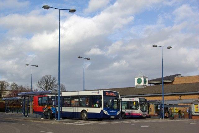 Stagecoach bus Enviro300 in Crystal Peaks, Beighton, Sheffield 12 March 2008