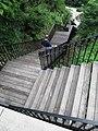 Stairs to High Bridge pathway from Highbridge Park looking down.jpg