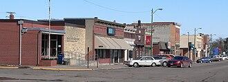Stanton, Nebraska - Downtown Stanton: north side of Ivy Street east of 11th Street