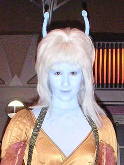 A female Andorian, at Star Trek: The Experience.