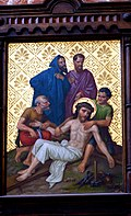 Station 11 Crucifixion Jesus is nailed to the cross, St. Nicholas Church in Elbl?g.JPG