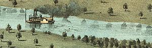 Steamboat iowa city 1868