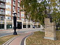 Stephen Juba Park and Condominiums in Winnipeg's Waterfront District in fall.JPG