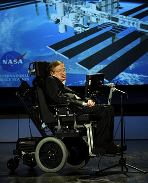 English: Stephen Hawking giving a lecture for ...