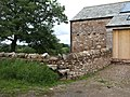Stile and converted barn. - geograph.org.uk - 222178.jpg