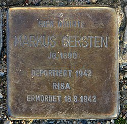 Photo of Markus Gersten brass plaque