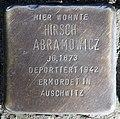 Stolperstein Andreasstr 34 (Frhai) Hirsch Abramowicz.jpg