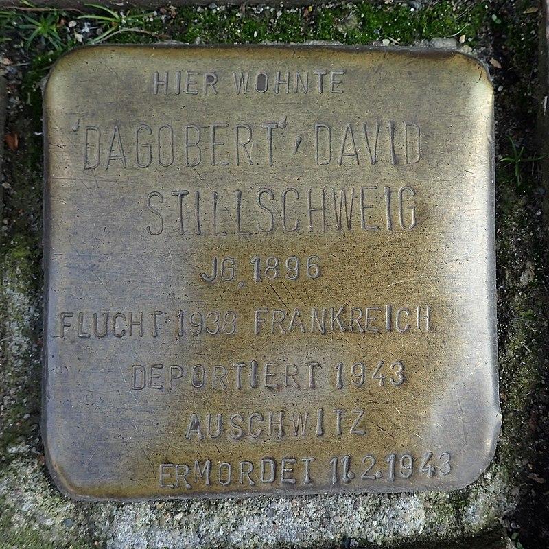 Stolperstein Heide Friedrichstraße 4 David Stillschweig
