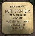Stolperstein Pariser Str 11 (Wilmd) Ruth Cronheim.jpg