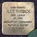 Stolperstein Westfälische Str 85 (Wilmd) Alice Russack.jpg