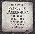 Stolperstein für Sandor-Tuba Petrovics (Pecs).jpg
