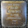 Stolpersteine Dortmund Brackeler Hellweg 116 Julius Klonower.jpg