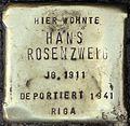 Stolpersteine Köln, Hans Rosenzweig (Aachener Straße 28).jpg