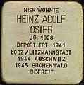 Stolpersteine Köln Blumenthalstrasse 15 Heinz Adolf Oster.jpg