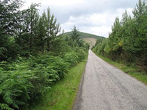 English: Strath Rusdale road through Inchlumpi...