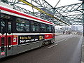 Streetcars on the Queen Street bridge over the Don River, 2014 12 03 (4) (15321493264).jpg