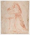 Studies for a Figure of Saint Francis Kneeling in a Three-Quarter View and for His Hands (recto); Studies for a Figure of Saint Francis Kneeling in Profile (verso) MET DP868316.jpg