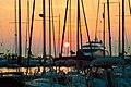 Sunset, dock of sailing boats. Greece.jpg