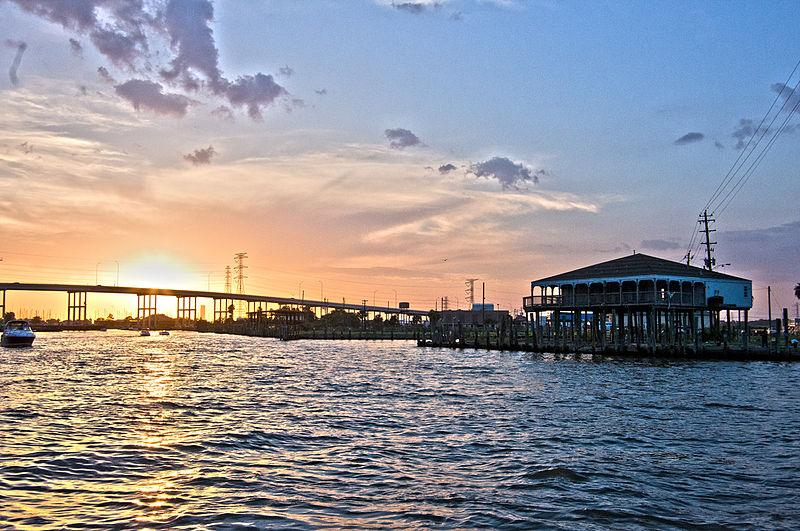 File:Sunset Over Kemah Bridge.jpg