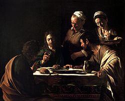 Caravaggio: Avondmaal in Emmaüs (Milaan)