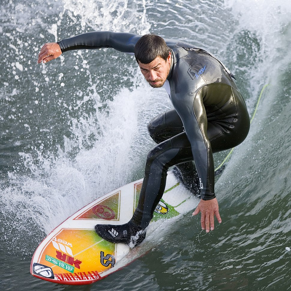 Surfer at the Cayucos Pier, Cayucos, CA