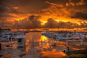 Sutera Harbour - Image: Sutera harbour sunset