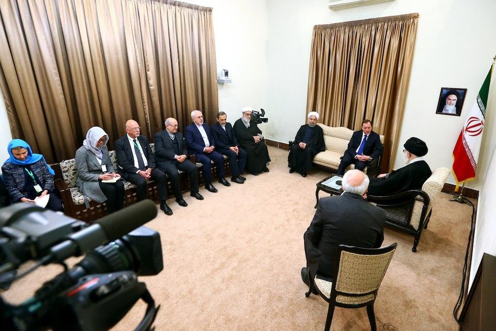 Swedish PM Stefan L%C3%B6fven meeting Iranian Supreme Leader Ali Khamenei 04