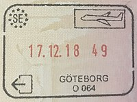 Swedish exit stamp, Gothenburg.jpg