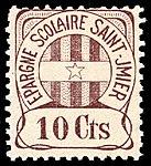 Switzerland St. Imier school revenue 10c brown unused.jpg