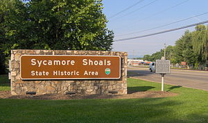 Sycamore Shoals State Historic Area - Park entrance