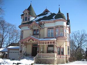 David Syme House - The David Syme House has two distinctive turrets.