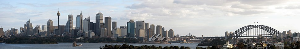 Sydney CBD panorama from Taronga Zoo, Mosman