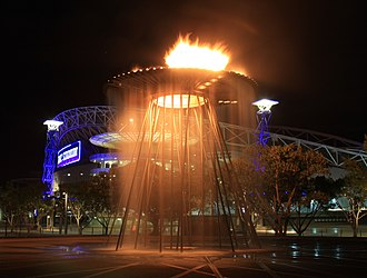 Sydney Olympic Park - Olympic Cauldron converted into a water fountain