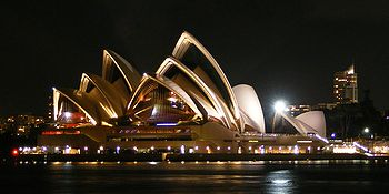 The Sydney Opera House, one of the world's most distinctive 20th century buildings