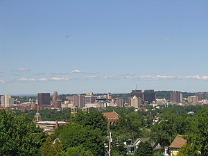 Timeline of town creation in Central New York - Skyline of Downtown Syracuse