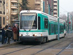 Île-de-France tramway Line 1 - Image: T1 a bobigny pablo picasso