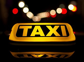 Taxicab type of vehicle for hire with a driver