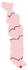 Location of Lomé in Togo