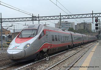 Pendolino - ETR 600 (Frecciargento of Trenitalia) near Bologna