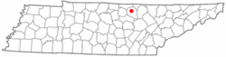 Location of Livingston, Tennessee