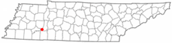 Location of Sardis, Tennessee