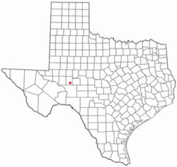 Location of Big Lake, Texas
