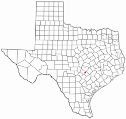 Location of Uhland, Texas