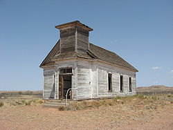 The now-abandoned Taiban Presbyterian Church was built in 1908.[1]