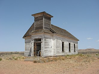 Taiban, New Mexico - The now-abandoned Taiban Presbyterian Church was built in 1908.