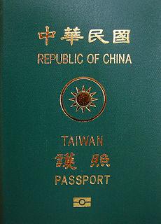 Taiwan passport passport