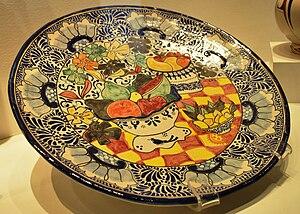 Talavera pottery - Talavera plate by Marcela Lobo
