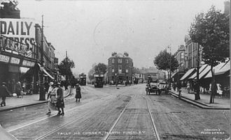 North Finchley - Tally Ho Corner in an old postcard.