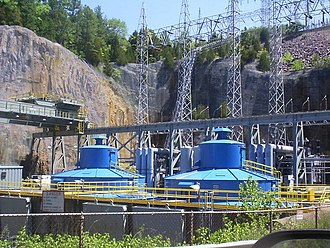 Taum Sauk Hydroelectric Power Station - The two generators can each produce up to 225 MW of power