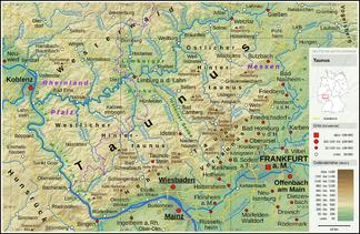 taunus karte Taunus – Wikipedia